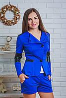 Костюм пиджак и шорты синий