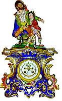 Часы с фигурками. Фарфор. з-д братьев Корниловых 1850-1860 г