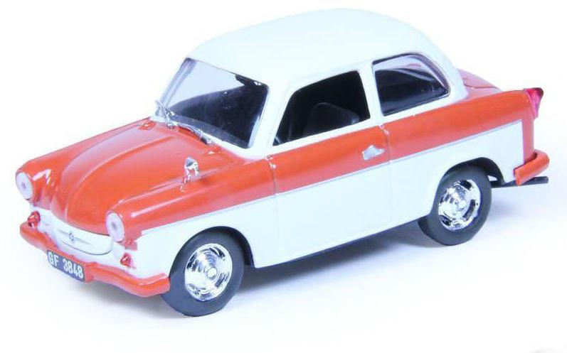 Автолегенды №173 TRABANT P50 (ГДР) оранжевый с белым | Коллекционная модель 1:43 | DeAgostini
