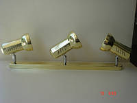 Спот на три плафона WT-935 E-27 Золото