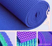 Коврик для Йоги Синий толщина 0,4 см