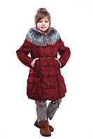 Бордовая зимняя курточка для девочек