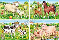 """В-04416, """"Домашние животные"""", 4xPuzzle(8,12,15,20)"""