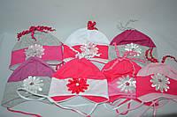 Шапочка для девочек 333 1-3 years разные цвета