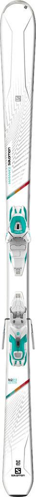 Горные лыжи женские Salomon E W-MAX 6 + E Lithium 10 W L80 white, 148/155 (MD)