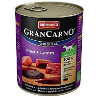 Animonda GranCarno Original Adult 24x800 g Говядина и ягненок