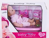 Пупс функциональный Baby Toby 30808 С6 с ванночкой
