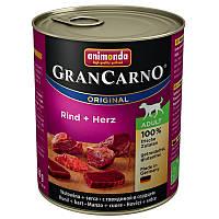 Animonda GranCarno Original Adult 24x800 g Говядина и сердца