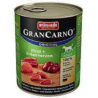 Animonda GranCarno Original Adult 24x800 g Говядина и сердце утки