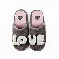 Тапочки домашние женские прикольные SOXO день Валентина любовь подарок