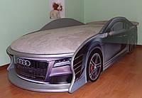 Кровать машина AUDI цвет серебристый