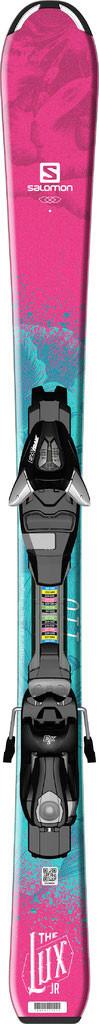 Горные лыжи детские Salomon E QST LUX Jr XS + E EZY5 J75 (MD)