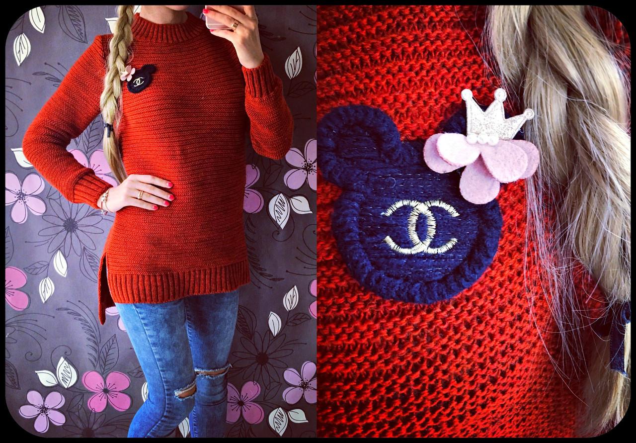 Модный женский свитер Ушки