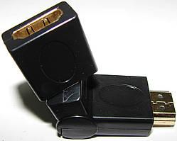 """Переходник HDMI M/F """"папа"""" - """"мама"""" поворотный, 360`"""