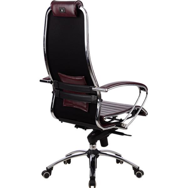 Кресло Samurai K1 BORDO кожаное