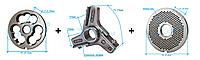 Комплект полуунгер H82 с решеткой 3 мм + нож со сменными лезвиями