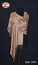 Жаккардовый коричневый шарф, фото 2
