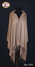 Жаккардовый коричневый шарф, фото 3