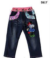 Теплые джинсы Minnie Mouse для девочки. 100, 140 см