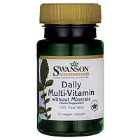 Витамины Swanson 1 шт в день без минералов, 30 капс