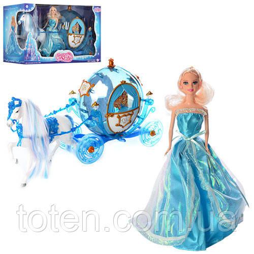 Карета принцессы с куклой и лошакой 218 А