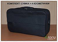 Бьюти - кейс для косметики и инструмента черный в комплекте с 4 косметичками