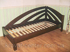 """Белая кровать из серии """"Радуга"""". Массив - ольха, береза, дуб., фото 3"""