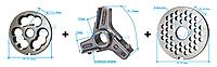 Комплект полуунгер H82 с решеткой 6 мм + нож со сменными лезвиями