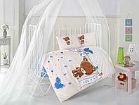 Постельное белье в детскую 100*150 кроватку Хлопок (TM Clasy) teddy-v2, Турция