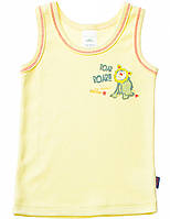 Майка для мальчика:цвет -Желтый,размер-74 см,6-9 мес