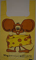 "Пакет майка 30*50 Люкс ""Мышь с сыром"""
