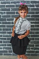 Юбка для девочки в школу