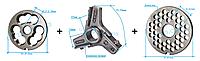 Комплект полуунгер H82 с решеткой 8 мм + нож со сменными лезвиями