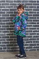 Стильная курточка для девочки Цветы