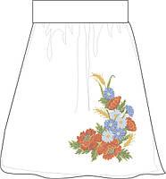 СПЖП-3. Заготовка Жіноча спідниця домоткана