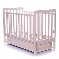 Детская кроватка Верес Соня ЛД12 Лапки продольный маятник с ящиком, слоновая кость