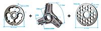 Комплект полуунгер H82 с решеткой 10 мм + нож со сменными лезвиями
