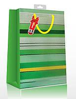 Пакет подарочный ANGEL GIFTS BK555 26*32*12см, Полоса, ассорти