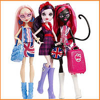 Набор Monster High Элизабет, Кетти Нуар и Вайперин (Elissabat, Viperine, Catty Noir) in Londoom Монстр Хай