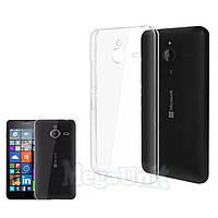 Прозрачный силиконовый чехол для Microsoft (Nokia) Lumia 640 XL