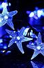 Гирлянда на солнечной батарее Морские звёзды синий 5м