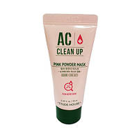 Успокаивающая маска для проблемной кожи AC Clean Up Pink Powder Mask (миниатюра)