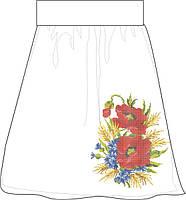 СПЖЛ-6. Заготовка Жіноча спідниця лляна сіра