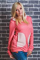Кофта женская с накладными карманами
