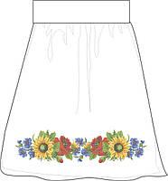 Заготовка для вишивки бісером Жіноча спідниця лляна сіра. Арт. СПЖЛ-28