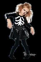Детский карнавальный костюм СКЕЛЕТ-ДЕВОЧКА код 2050