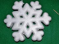 Сніжинка велика з пінопласту 19,5 см 1500-5