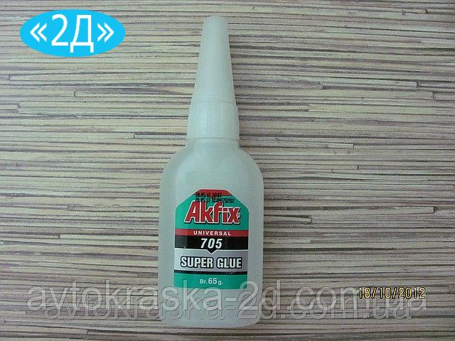 Суперклей Akfix 705 высокой вязкости (гель) 65 г на основе цианоакрилата