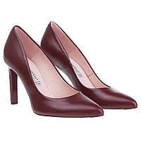 Женские туфли Bravo Moda (классический дизайн, насыщенный бордовый цвет, высокая шпилька, стильные, изысканные