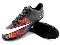 Футбольные сороконожки Nike Mercurial Victory V CR TF Black/White/Total Crimson, фото 1